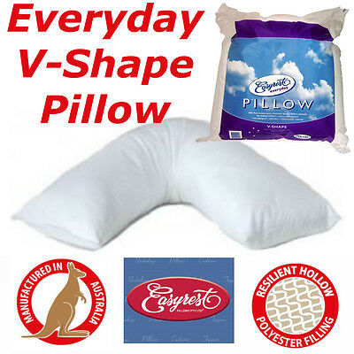 Made In Australia Everyday V-Shape Pillow | Easyrest | 100 % Pure Cotton cover