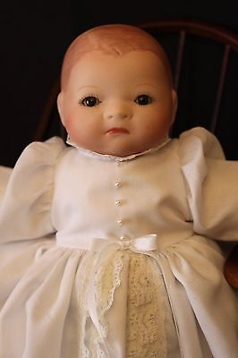 "12"" Antique Reproduction Bisque/Frog Body Grace Putnam Bye Lo Baby Doll"