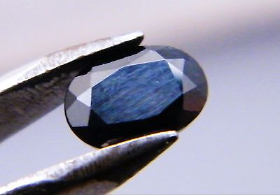 Australian Natural Sapphire Oval Cut Dark Blue / Black Single Loose Stone