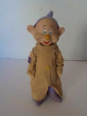 DISNEY Vintage Snow White And The Seven Dwarfs DOPEY Jointed Doll 6 1/2""