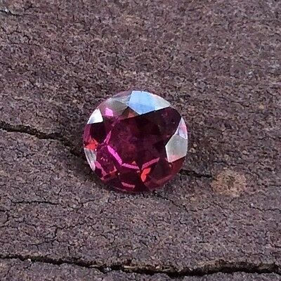 1 Pc Round Cut Shape Natural Rohdolite Garnet 4.5Mm Loose Gemstone