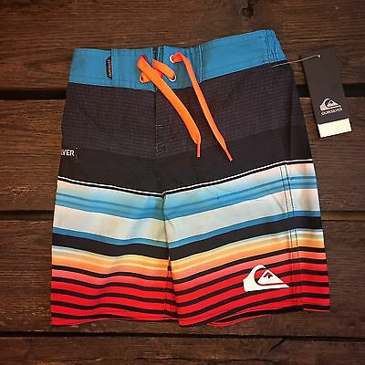 Boy's Quiksilver Boardshorts Size 4 Hawaiian Ocean Beach Swim Surf Trunks Summer