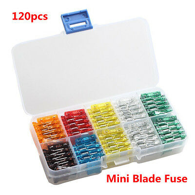120Pcs MIX Mini Standard Blade Fuse 7 5 10 15 20 25 30 Amp ATM APM for Car Home