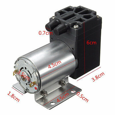DC12V 120kpa Air Suction Vacuum Pump Suction W/ Bracket Booster Pumping Piston