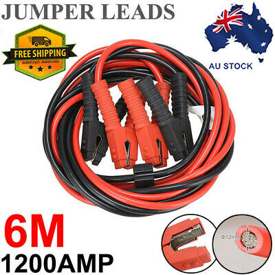 1200AMP 6M LONG Jumper Leads Booster Cables Surge Protected Heavy Duty AU Stock