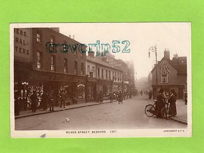 Silver Street  Bedford  Shop pub RP pc used 1917 ? PN Series A F S Ref C345