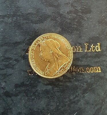 22ct full gold sovereign 1896 Queen Victoria