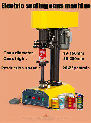 Automatic Container Capping Machine,Cans Sealing Machine 20-25pcs/min