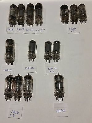 ELECTRON VACUUM TUBE VALVES VARIOUS Lot of (15) UNTESTED  FREE SHIPPING.