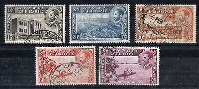 Ethiopia.  1947-1953.  Definitive.   SG371a-374.  Used.