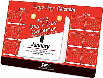 2018 Day To Day Desk Top Stand Up Tear Off Block Calendar Quotes & Facts