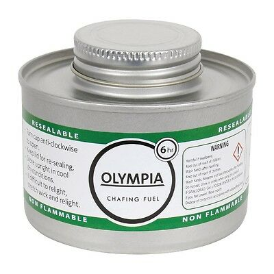 12 X Olympia Liquid Chafing Fuel 6 Hour Catering Gel Tin Burn Warmers