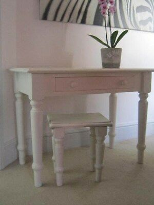 ASPACE White wood occasional hall table painted girls dressing table shabby chic