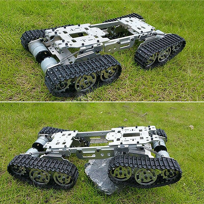 CNC Metal Robot ATV Track Tank Chassis Suspension Obstacle Crossing Crawler Gift
