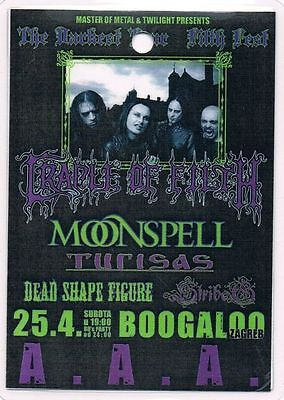 Cradle Of Filth 25.04.2009. Zagreb Croatia - Access All Areas - Backstage Pass