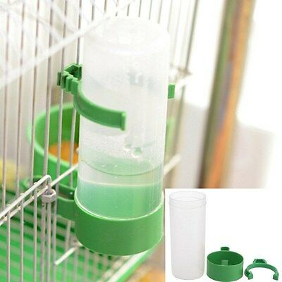 AU 4x Bird Pet Water Drinker Food Feeder Clip for Lovebirds Aviary Budgie Parrot