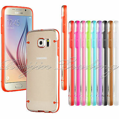 For Samsung Galaxy S6 Ultra Slim Transparent Crystal Clear Hard Case Cover