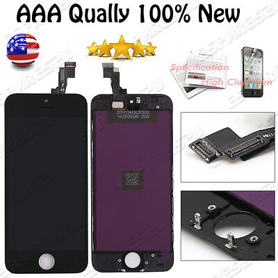 For iPhone 5S Black Replacement LCD Display Screen Touch Digitizer Full Assembly
