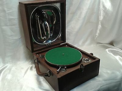 VERY RARE EXCELLENT 1920s VINTAGE WW1 DECCA JUNIOR TRENCH GRAMOPHONE