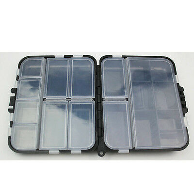 Outdoor Fishing Lure Bait Tackle Hook Box Storage Case Compartments Organizer