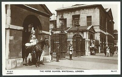 London The Horse Guards Whitehall Vintage W&R Real Photo Postcard