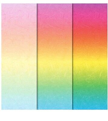 Pack of 24 Sheets Assorted RAINBOW 120gsm Patterned A5+ Creative Craft Paper