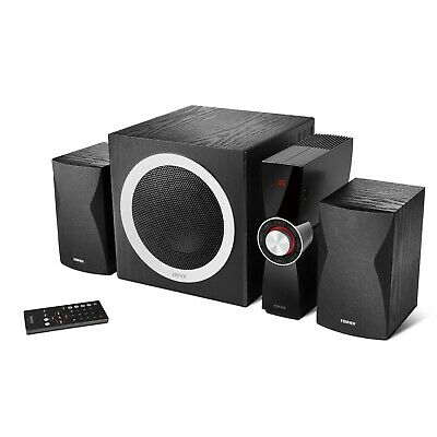 edifier c3x 2 1 lautsprechersystem fernbedienung speaker stereo system schwarz eur 99 95. Black Bedroom Furniture Sets. Home Design Ideas