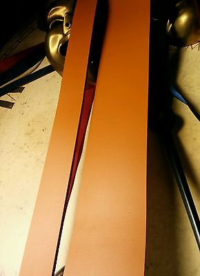 """Leather Strap London Tan Brown 3mm Leather Craft 50"""" long belt making Any width"""