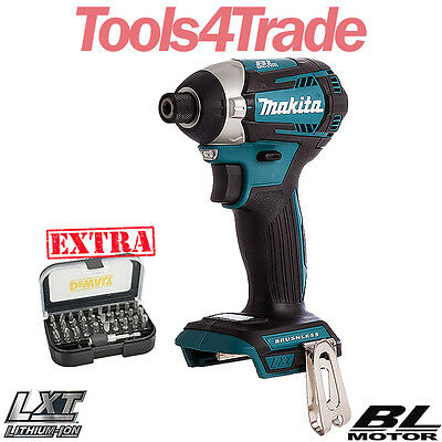 Makita DTD154Z 18v Li-ion Brushless Impact Driver With 31pcs Screwdriver Bit Set