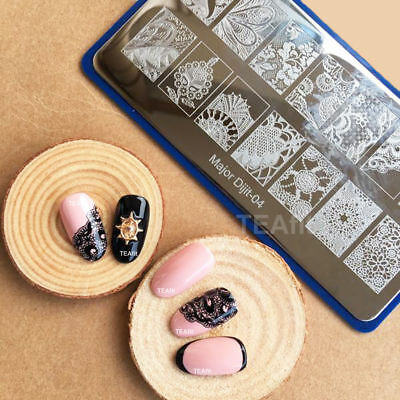 2019 New Lace Flowers Latest Stamping Plates Stamp Template Nail Art Design