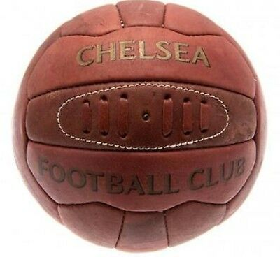 New Chelsea Fc Heritage Retro Football Ball Size 5 Leather Look Soccer Hypro