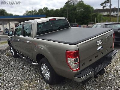 To Fit 2016+ Ford Ranger Tri Folding Soft Tonneau Bed Canopy Cover 4x4 Non Drill