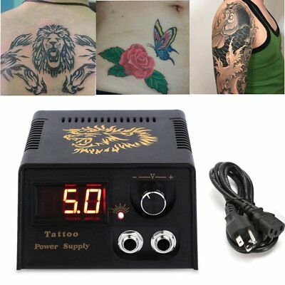 Profesional LCD Digital Tatuaje Maquina Fuente Alimentación Tattoo Power Supply