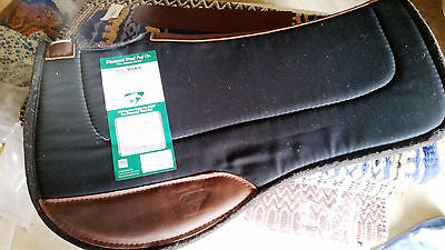 Diamond Wool Saddle Pad Endurance Fender Cross Breed Western Horse BLACK