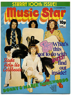 MUSIC STAR Magazine 21/12/1974 Sparks David Bowie Sweet Gary Glitter Slade Wings