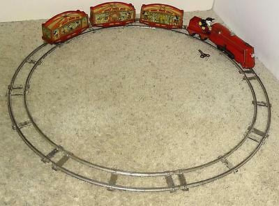 """Complete 5 Piece Set: Disney 1935 """"lionel Mickey Mouse Circus Train""""+Orig. Track"""