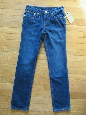 True Religion Boys Geno Relaxed Slim Fossil Jeans, Antique Wash, Nwt$129, 12