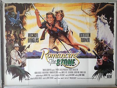Cinema Poster: ROMANCING THE STONE 1984 (Quad) Michael Douglas