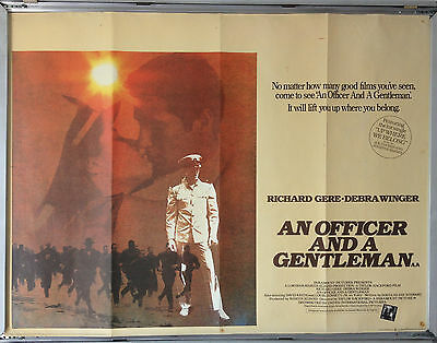 Cinema Poster: AN OFFICER AND A GENTLEMAN 1982 (Quad) Richard Gere Debra Winger