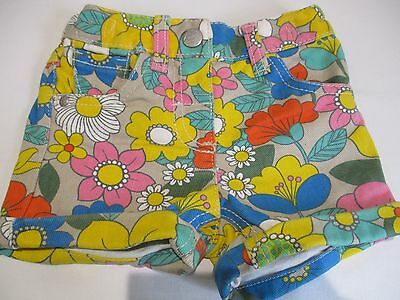 NEXT PRETTY BRIGHT COLOURFUL FLOWER PRINT ALL IN ONE COTTON SHORTS AGE 12 - 18 m