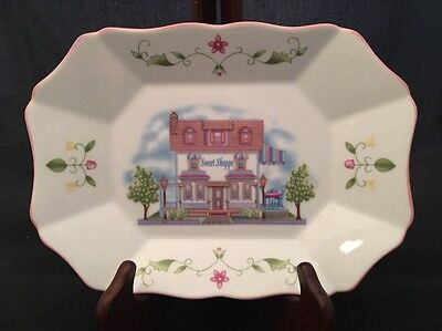 "Lenox Village Candy Tray Dish Plate ""Sweet Shoppe""  Fine Porcelain MINT"
