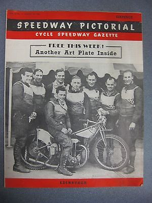 SPEEDWAY PICTORIAL  June 9th 1950 Yarmouth