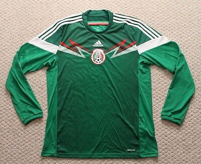 Adidas Mexico National Team -Soccer Jersey -  Long Sleeved - Large