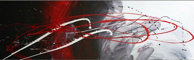 NEW Abstract Canvas Painting in Red / Black