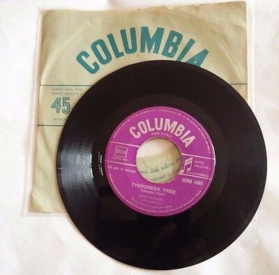 "Cliff Richard - Evergreen Tree - 7""  Columbia Scmq 1498  Italy 1961 First  Rare"