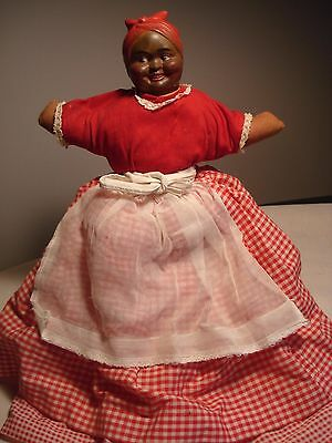 Vintage...Very Cute....Rubber Faced.....Aunt Jemima.....Shelf Doll