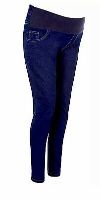 (M51) New Look Skinny Maternity Jeans Size 8 Blue