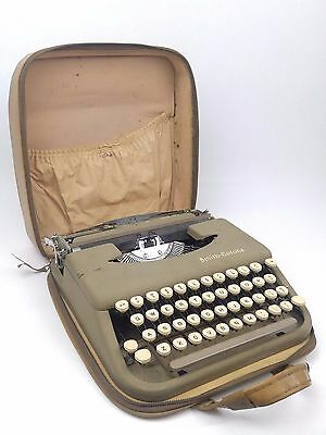 Vintage Smith-Corona Skyriter Portable Typewriter with Case and Manual