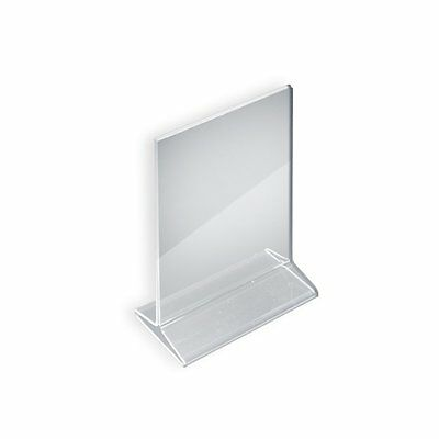 Azar 142711 5-1/2-Inch W by 8-1/2-Inch H Top-Load Acrylic Sign Holder, 10-Piece