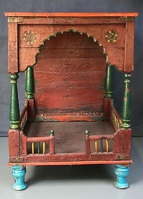 Antique/vintage Indian Wooden Home Temple. A Huge Hindu Shrine. Bedside Table?